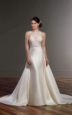 078946c16310 Martina Liana Opal is an elegant and modern overskirt of line A! This  detachable silk · Wedding Dress ...