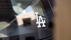 MLB Los Angeles Dodgers Car Laptop Auto Decal in WHITE
