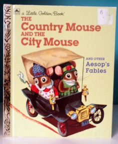 Vintage Little Golden Book, The Country Mouse and the City Mouse. $4.95, via Etsy.