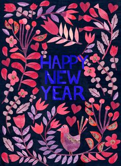 Happy New Year by Tracey English www.tracey-english.co.uk