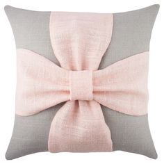 Handmade burlap pillow with a bow design. Made in the USA.   Product: PillowConstruction Material: Burlap cover