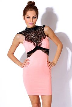 21st Birthday Dresses Ideas Clubwear21 Dress Fashion Lace High Neck Backless Pink Retro Ed