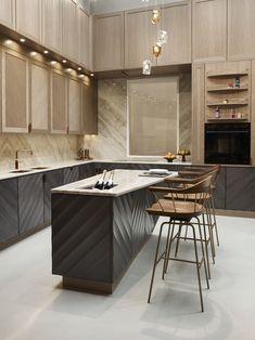 The Quantum Kitchen | LINLEY Belgraiva | Marble & Quartz Kitchen #kitchens #quartz #marble #brass #cooper