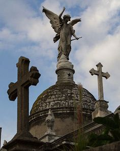 Recoleta Cemetery, in the heart of Buenos Aires, is arguably the world's most beautiful place to rest in peace. Central America, South America, Latin America, World's Most Beautiful, Beautiful Beaches, Recoleta Cemetery, Cemetery Angels, Monuments, Angel Sculpture
