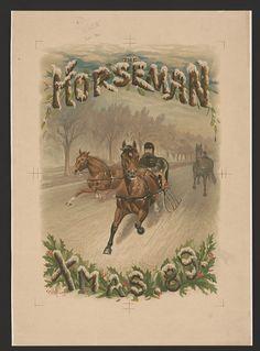 The Horseman - Xmas, c.1889, Magazine. ~ {cwl} ~ (Image: LOC)