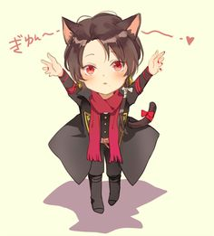 pixiv is an illustration community service where you can post and enjoy creative work. A large variety of work is uploaded, and user-organized contests are frequently held as well. Anime Chibi, Anime Art, Neko, Chibi Eyes, Touken Ranbu Characters, Familia Anime, Cute Chibi, Chibi Boy, Naruto Oc