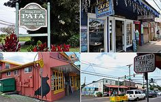 Paia - on the North Shore, once-poky Pa'ia is turning old storefronts into boutiques and restaurants. At Green Banana Café, try Papa Wong's Famous Banana Pudding. Or hit a hangout of pro surfer Laird Hamilton, Anthony's Coffee Company (above, its veggie Benedict). Art shoppers will be wowed by locally made ceramics at the Maui Crafts Guild.