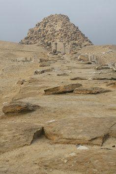 Pyramid of Sahure and causeway.