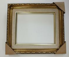 8 x 10 gold ornate picture frame w linen liner new downton abbey style