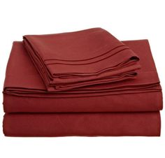 Two Line Embroidery 90GSM Microfiber Sheet Set Twin Full Queen King 10 Colors