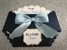 Little Prince baby shower invitation baby boy prince shower