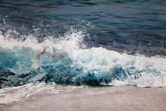 Zaria Forman - The Maldives (pastel on board).