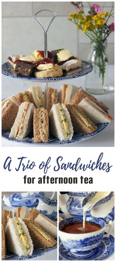 Three delicious afternoon tea sandwiches!