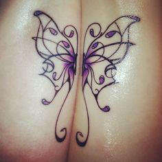 My mom and I's tattoo :) half a butterfly each to make a complete butterfly! I love it, she's my other half!