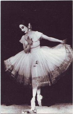 <<Anna Pavlova as Giselle in London, 1924 # Anna Pavlova (1881-1931) was a Russian ballerina of the late 19th and the early 20th century. She is widely regarded as one of the finest classical ballet dancers in history and was most noted as a principal artist of the Imperial Russian Ballet and the Ballets Russes of Sergei Diaghilev. Pavlova is most recognized for the creation of the role The Dying Swan and, with her own company, became the first ballerina to tour ballet around the world >>