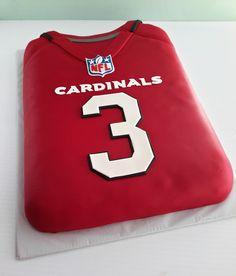 1a3314ca602c AZ Cardinals Carson Palmer jersey cake. Go Cards!