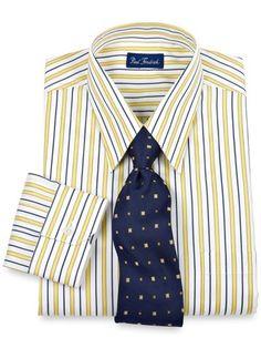hilfiger slim fit bold blue check dress shirt