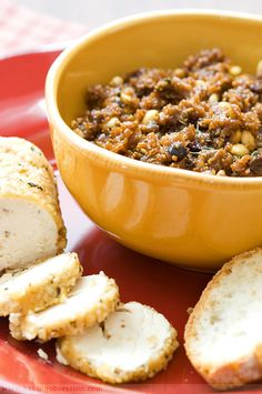 Fig and Olive Tapenade with Pine Nut and Thyme-Coated Goat Cheese - Baking Obsession