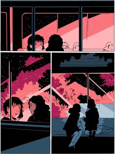 On a Sunbeam ch 4 by Tillie Walden Aesthetic Drawing, Aesthetic Art, Character Art, Character Design, Art Zine, Comic Manga, Dark Drawings, Bubbline, Art Inspo