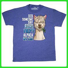 Inktastic - Did Someone Say Road Trip Alpaca T-Shirt Medium Retro Heather Royal - Retro shirts (*Amazon Partner-Link)