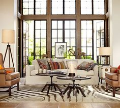 Let the light in with floor to ceiling windows.