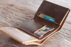Men's Leather Trifold Wallet Holds Lots & Lots of by JooJoobs
