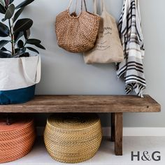 The perfect summer hallway styling with natural fibres and earthen colours.  Styled by Rebecca Fuge and photos by Maree Homer  Australian House & Garden January 2017