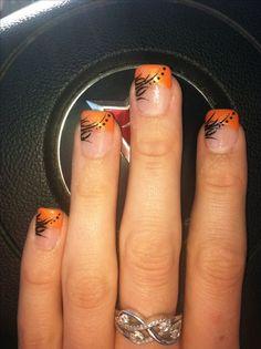 Autumn nail tips, fall nail colors gel polish nail design