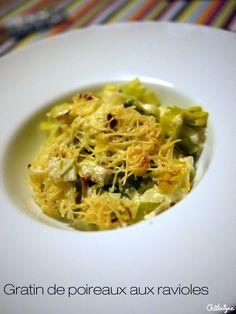 Gratin de poireaux aux ravioles | Blog de Châtaigne