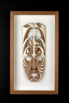 Prosperity Mask by Kerry Kapua Thompson, Māori artist Wood Carving Art, Bone Carving, Wood Art, Maori Designs, Tiki Art, New Zealand Art, Laser Art, Nz Art, Maori Art