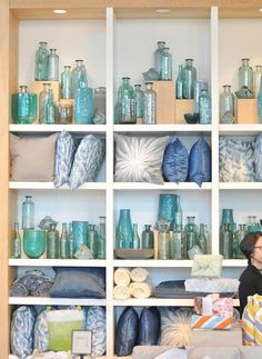 Not all Valentine's are pink or red! Just tell a color story...Inspiration: West Elm store display