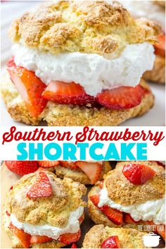 Homemade Southern Strawberry Shortcake Recipe From The Country Cook Shortcake Southern Desserts, Köstliche Desserts, Delicious Desserts, Dessert Recipes, Southern Recipes, Homemade Desserts, Dinner Recipes, Southern Strawberry Shortcake Recipe, Strawberry Desserts