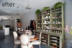 before & after: pegboard kitchen makeover + studio redo – Design . Makeover Studio, Flower Studio, Workspace Inspiration, Front Rooms, Boutique, Interior Design, House, Blog, Studio Ideas