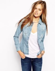 G-Star Denim Shirt - Light blue
