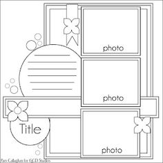 Ideas for Scrapbookers: A Boy Page Idea and Sketch