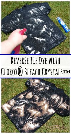 Reverse Tie Dye with Clorox® Bleach Crystals™ Tutorial @Walmart #ad #TotalBleachControl | The TipToe Fairy