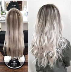 Ash Blonde with shadow roots