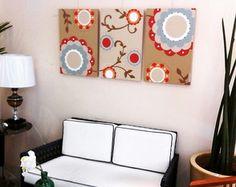 Trio de Telas Floral Colours 40x60cm