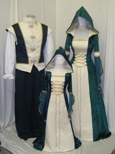 medieval handfasting renaissance Celtic dress custom made. $266.00, via Etsy.