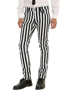 Men s Steampunk striped pants. Royal Bones By Tripp Black White Striped  Skinny Pants  49.50 AT 4350a276de37f