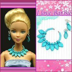 barbie doll jewelry set barbie purple pearl necklace by sinogem, $2.99