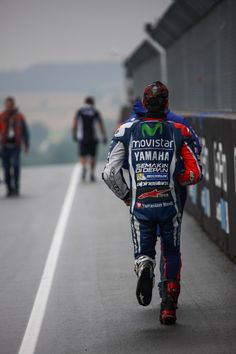 The long walk home. Jorge Lorenzo at the Sachsenring. Photo by Cormac Ryan-Meenan, 2016.