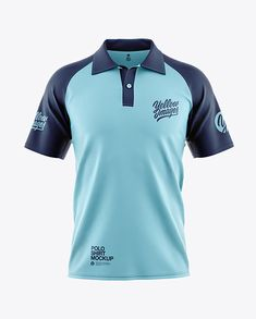 Includes special layers and smart objects for your work. The item is presented in a front view. Polo Shirt Design, Polo Design, 3d Templates, Sublime Shirt, Uniform Design, Camisa Polo, Ski Fashion, Men's Polo, Raglan Shirts