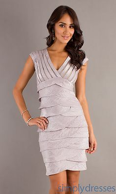 V-Neck Layered Dress at SimplyDresses.com