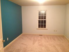 Accent wall for our nursery.. Gray and teal