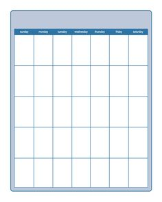 Printable Calendar Template    And Blank Calendars