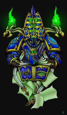 Warhammer Art, Warhammer 40000, Thousand Sons, War Hammer, Space Marine, Marines, Sci Fi, Lord, Fantasy
