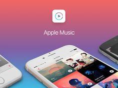 """다음 @Behance 프로젝트 확인: """"Apple Music iOS 10"""" https://www.behance.net/gallery/38363019/Apple-Music-iOS-10"""