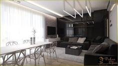 Siyah oturma odası tasarımları
