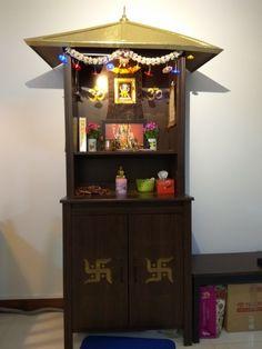 Reader's Gallery – The Experimental Baker HomeMaker Mandir Design, Pooja Mandir, Pooja Room Door Design, Home Temple, Temple Design, Puja Room, Wall Shelves Design, Room Doors, Wooden Doors